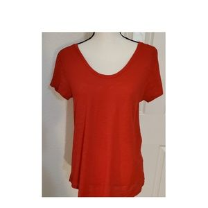 AT Loft Vintage Soft Red Cotton Tee Size Small